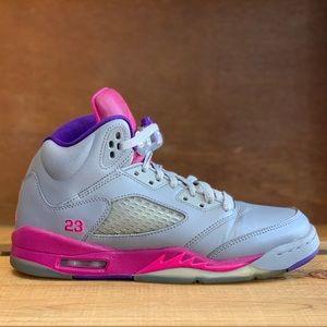 Jordan 5 Retro GS Cement Grey Pink